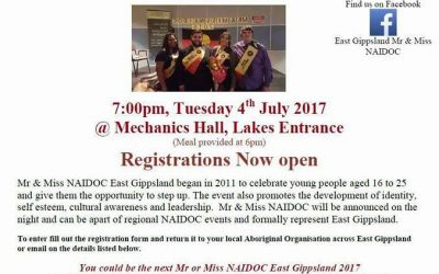 MR & Miss NAIDOC for East Gippsland
